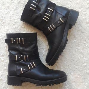 Zara heeled combat boots 38 EU black